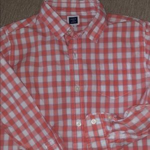 Janie and Jack - Boys Plaid Coral Button Down